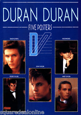 20501 Duran Duran Blue 5-Poster Book Large Unbound Full Color Rock 80s New Wave