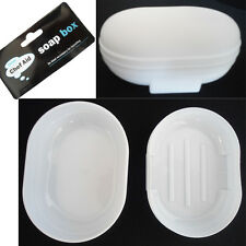 White Travel Soap Case Dish Dishes Chef Aid Holder Box Storage Container Plastic