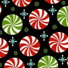 PEPPERMINT TWIST PEPPERMINT CANDY CHRISTMAS FABRIC