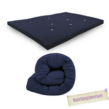 Navy Budget Double Futon Sofabed Replacement Roll Up Folding Sleeping Mattress