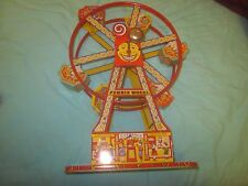 Original Vintage J Chein Mechanical Wind Up Tin Toy No 172 Ferris Wheel BOXED