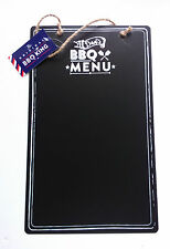 BBQ KING METAL MENU CHALKBOARD Garden DAD'S COOKING LIST Painted Hanging String