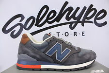 NEW BALANCE 996 DISTRICT RETRO SKI MADE IN USA GREY NAVY BROWN M996DSKI SZ 8