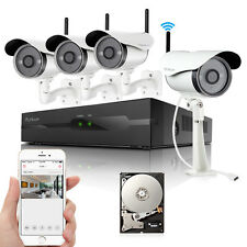 Funlux 4CH NVR 4 720p IP Network Wireless Outdoor Home Security Camera System 1T