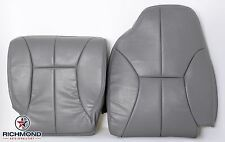2001 Dodge Ram 2500-Driver Side Complete (Bottom & Top) Leather Seat Covers Gray