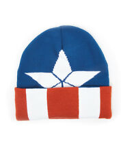 OFFICIAL MARVEL COMICS CAPTAIN AMERICA STAR COSTUME STYLED BEANIE HAT (NEW)