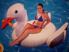 Giant Inflatable Seagull Bird Pool Float Blow Up Toy Rider Ride On