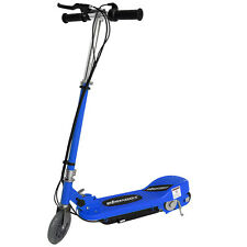 BLUE KIDS ELECTRIC SCOOTER 120w 24v RIDE ON BATTERY CHILDRENS TOY FAST BIKE