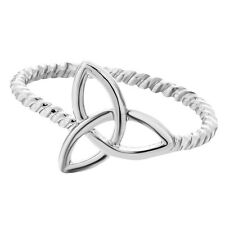 Gold Silver Knot Ring Trinity Knot Ring Fashion for Women Wedding Rings