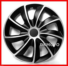 "4x14"" Wheel trims for Ford KA Fiesta Focus  14"" full set black / silver"