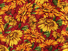 FAT QUARTER  AUTUMN HARVEST FALL FLORAL QUILTING COTTON FABRIC DAVID TEXTILE  FQ