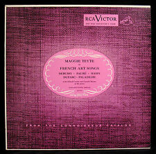 MAGGIE TEYTE-FRENCH ART SONGS-Sporano-CORTOT & MOORE Piano-RCA VICTOR #LCT 1139