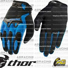 Thor Spectrum Gloves Blue Black Youth Kids Children Medium Motocross Enduro Quad