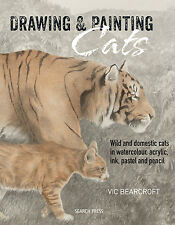 Vic Bearcroft, Drawing & Painting Cats Book, Brand New Release, Signed Copy