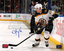 David Krejci Boston Bruins Signed autographed  8x10 photo away action