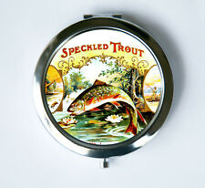 Trout fish Compact Mirror Pocket Mirror fisherman outdoors