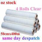 4 ROLLS 50cm x 400m Shrink PALLET WRAP Wrapping Clear Stretch Film