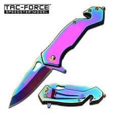 Tac Force Rainbow Tactical Spring Assisted Speedster Model Small Pocket Knife