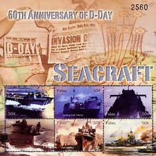 WWII SEACRAFT 60th Anniversary of D-Day Warship Stamp Sheet (U-Boat/LCA/LCI)