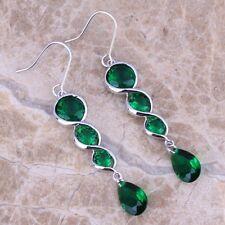 Awesome Green Emerald Drop Dangle Fashion Earrings For Women S0211