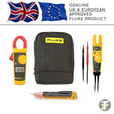 Fluke 323 Digital Clamp Meter + T5-1000 Voltage & Continuity + 1AC + C115 Case