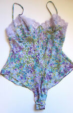 VINTAGE Victoria's Secret NWT Floral Sheer Thong Thong Teddy Lingerie MEDIUM