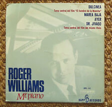 ROGER WILLIAMS soundtrack OST  BEATLES version JAZZ PIANO SPAIN 45 7'' EP