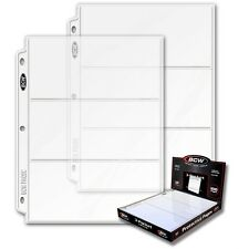 20 - 3 1/2 x 8 Currency Dollar Page Protectors by BCW Pro3C  fits 3 ring binders