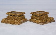 1/100 15mm WW2 command post Sand bag objectives. Dug in markers X2. For FOW