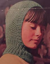 Knitting Pattern For Kids Wooly Balaclava Helmet Hat - Children's Chunky Knit