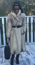 Fab Designer Full length White beige Fox Fur coat jacket bolero Stroller S 0-6