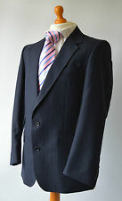 "Men's Bespoke Navy blue Striped Suit by M. W. & V. S. Getzels ,Chest 40"" W35""."