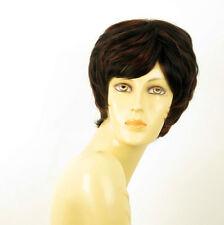 perruque femme 100% cheveux naturel courte méchée noir/rouge MALORIE 1b410