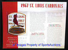 ST LOUIS CARDINALS 1967 WORLD SERIES PATCH Willabee Ward CHAMPIONSHIP COLLECTION