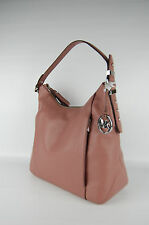$298 Michael Kors Bowery Dusty Rose Leather Shoulder Bag Hobo Handbag NWT