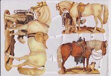 1 B.Glanzbilder Poesie Tiere Pferde glimmer ef 7136 Nr.600