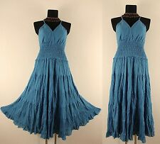 NEW LONG BLUE GOTHIC DRESS Plus Size 18 20 Medieval Peasant Gypsy Empire Larp