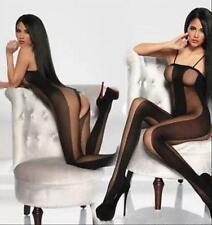 Sexy cobwebs Fishnet Crotchless Stocking Suspender Bodystocking Lingerie size M