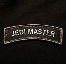 JEDI MASTER TAB ROCKER USA ARMY BADGE MILITARY SWAT VELCRO® BRAND FASTENER PATCH