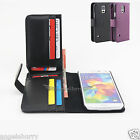 New Galaxy S5 Credit Card Wallet Flip Leather Pouch Case Cover For Samsung
