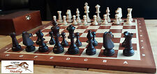 No.5 PROFESSIONAL TOURNAMENT WOODEN CHESS SET- STAUNTON AND INLAID CHESS BOARD!