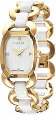 NEW Escada Charlene e2635073 Womens Swiss Quartz Gold tone diamond Ceramic Watch