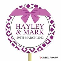 ❤ 20 PERSONALISED Cup Cake Toppers | Wedding Ribbon| Cupcake Decoration ❤