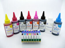 Recargable Cartucho De Tinta + Kit 800ml De Tinta Para Epson Stylus Photo R1900 No Oem