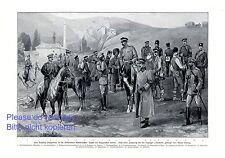 Soldaten Bulgarien XL Kunstdruck 1915 General Uniform Offizier Krieg WW WK 1 +