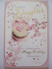 LARGE STUNNING TOP RANGE 3 PAGE 6 VERSE FOR A SPECIAL DAUGHTER BIRTHDAY CARD