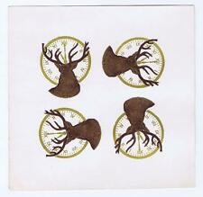 Deer, Antlers, clock, button pin paper label #14