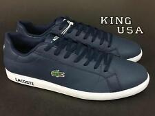 Men's Lacoste Graduate LCR3 Fashion Sneakers Navy Leather Size 11.5