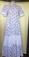 Laura Ashley vintage made in Wales pretty floral dress empire long 10 12 14 UK