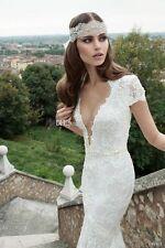 Sirène perlée corsage plissé Jupe à volants superposés en organza robe de mariée